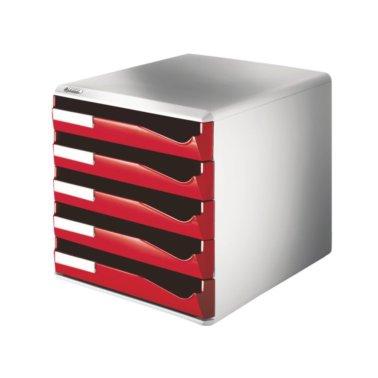 Ladenblok leitz 5280 5 laden rood schoolspullen webshop for Ladenblok kunststof